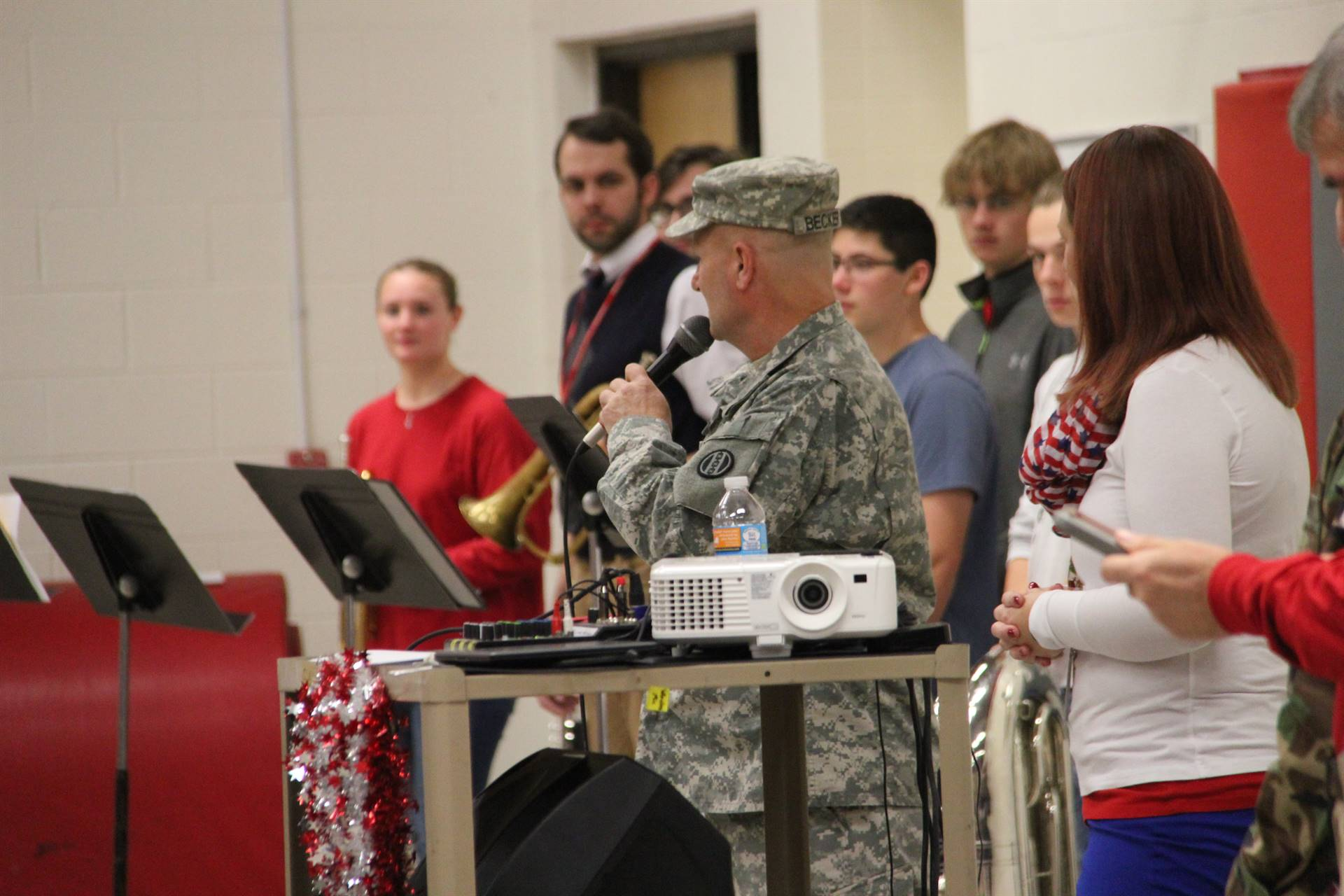 veteran speaking at assembly