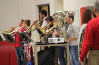 brass ensemble performing