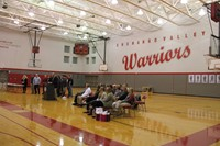 wide shot of gym for fall sports awards