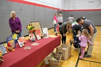 fenton free library table at humanities night