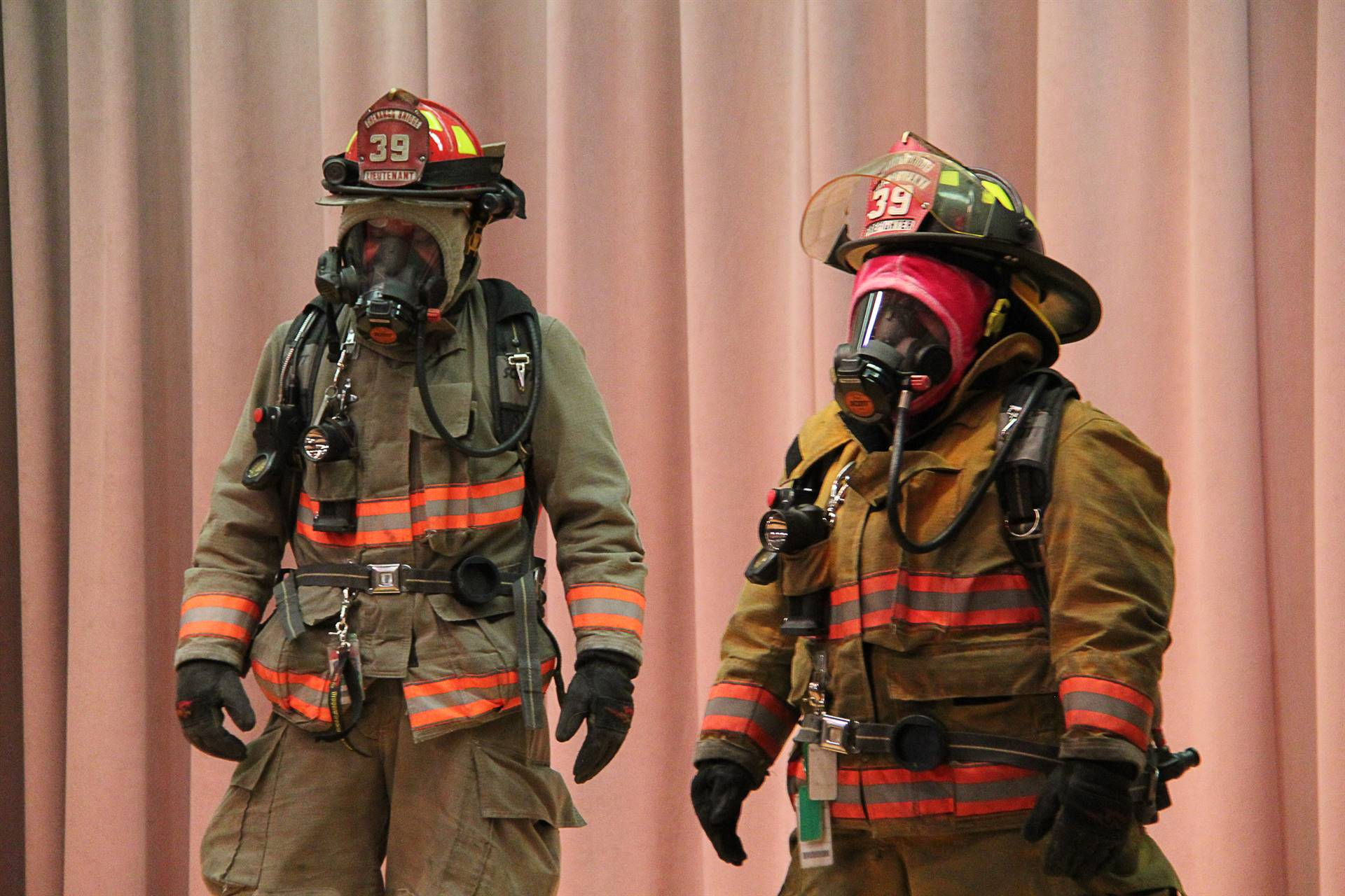 firefighters dressed in their gear