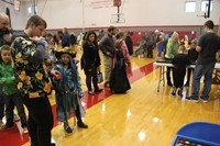 students playing games at spooktacular event