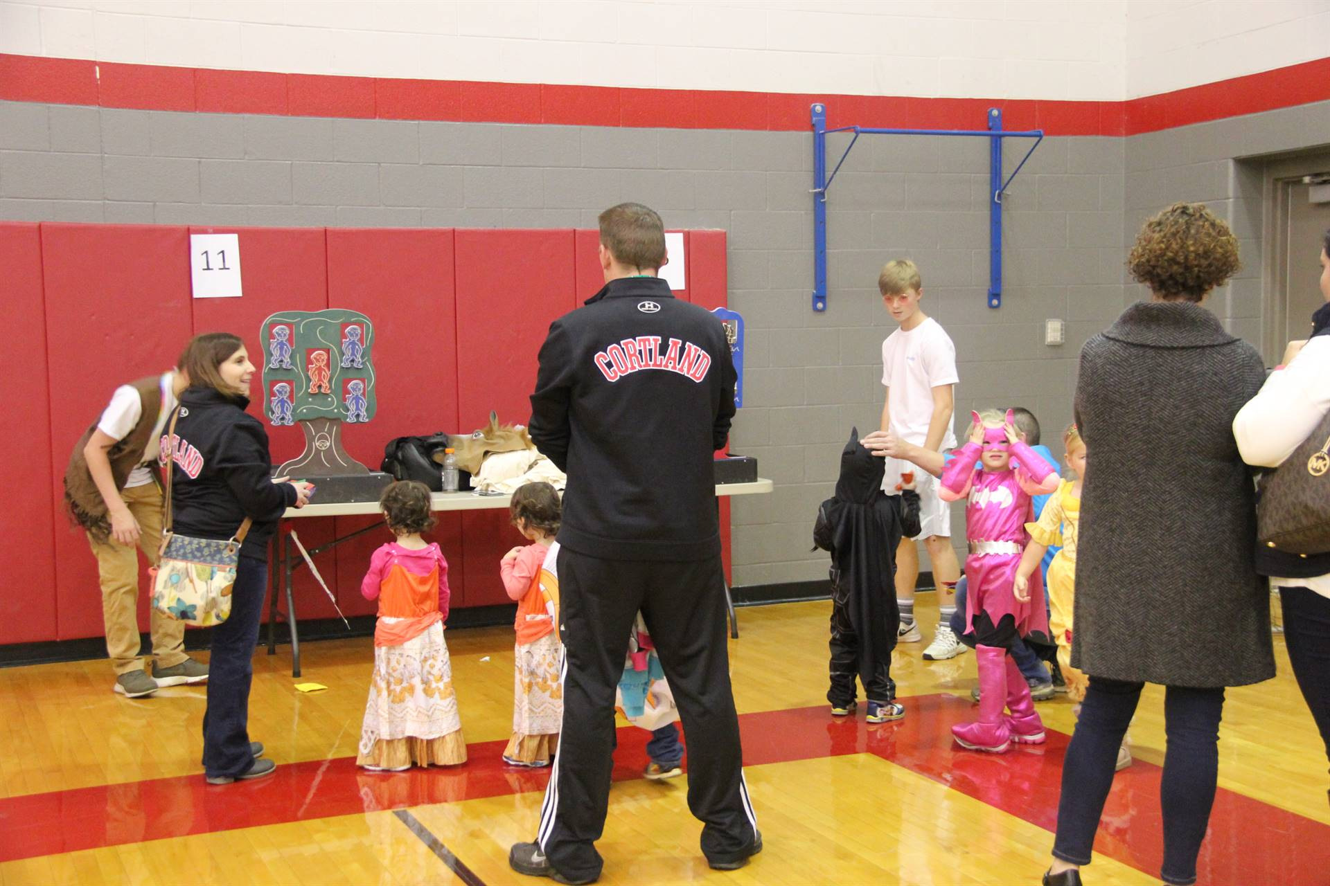 students taking part in spooktacular event activities