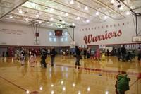 wide shot of gym at spooktacular event