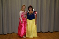 chenango bridge staff dressed as princesses