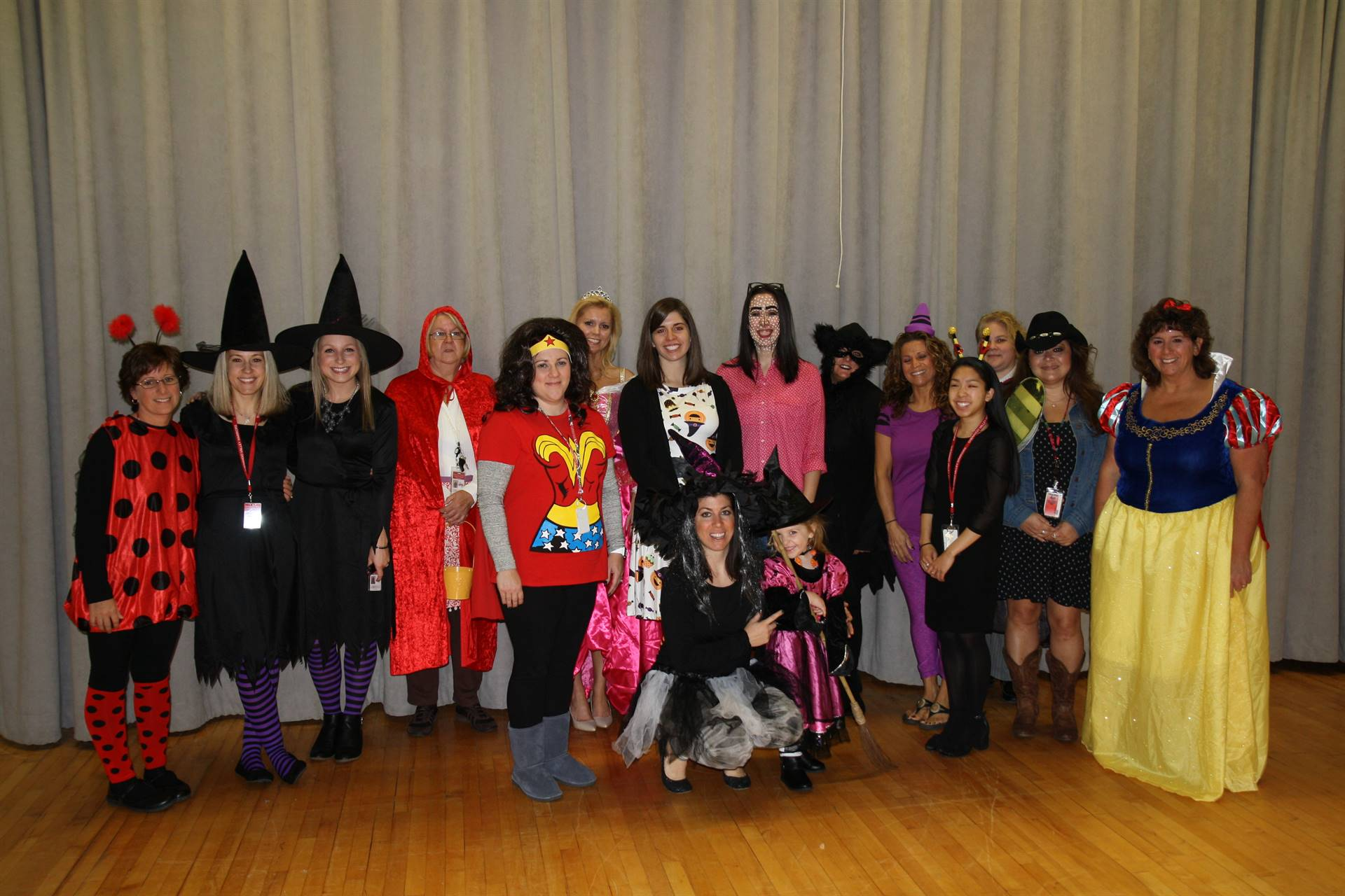 chenango bridge staff dressed up for halloween