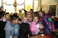 chenango bridge students dressed up for halloween