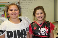 students dressed up for halloween at chenango bridge elementary
