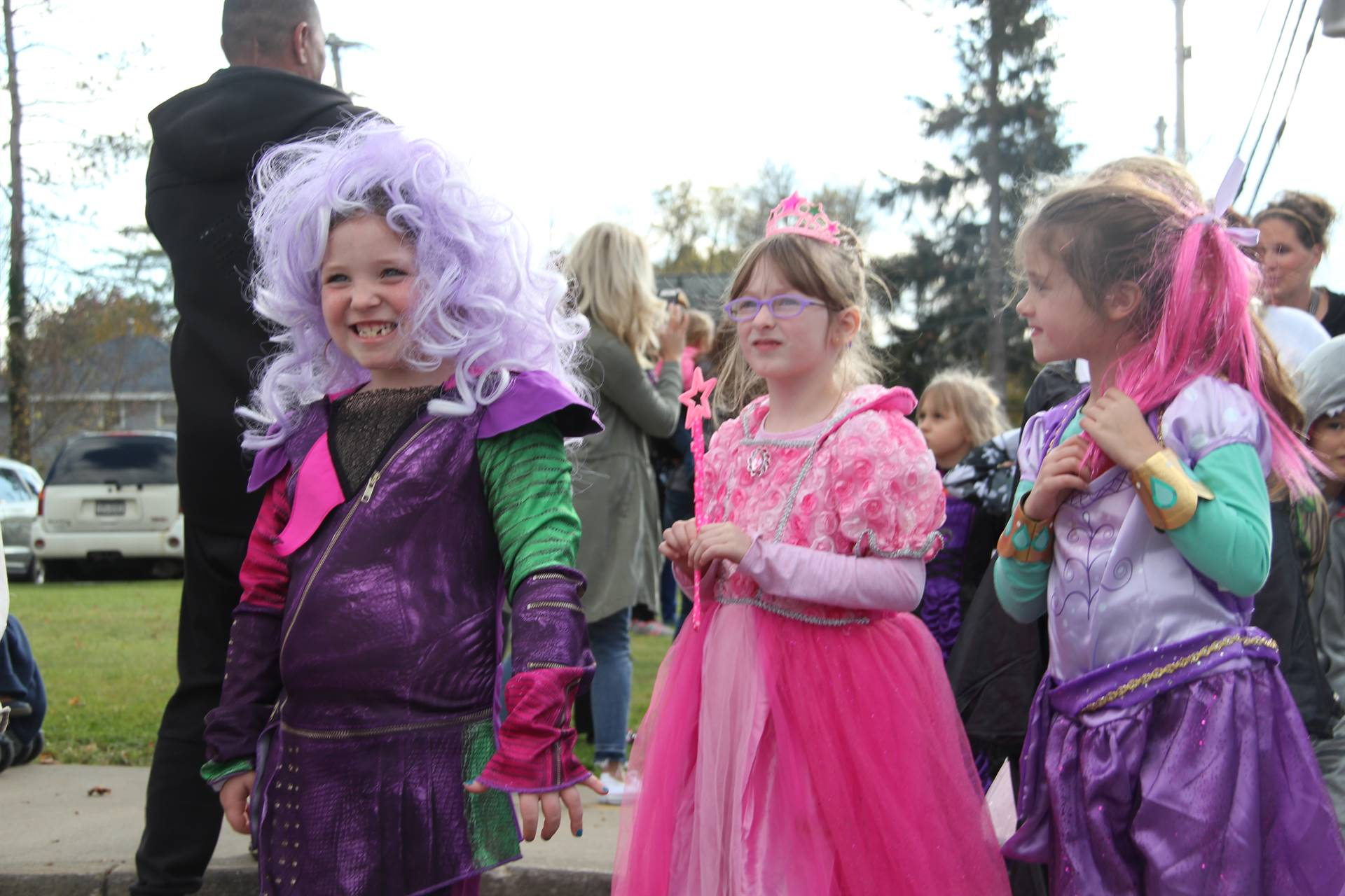 girls dressed as princesses