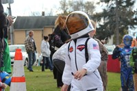 student dressed as astronaut