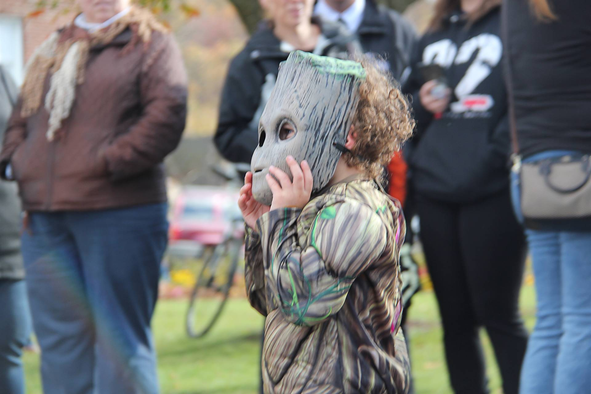 student dressed as groot