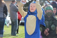 student dressed as sonic the hedgehog