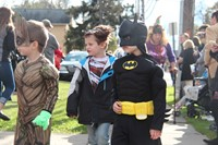 students dressed as batman groot and werewolves