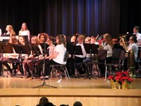 more students from seventh and eighth grade band performing