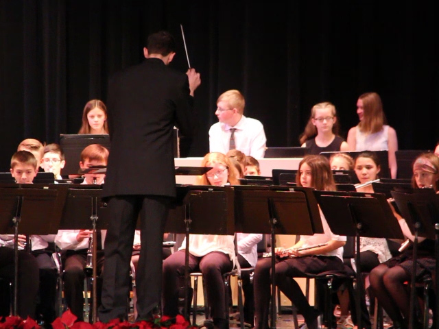 mister hammill conducting seventh and eighth grade band