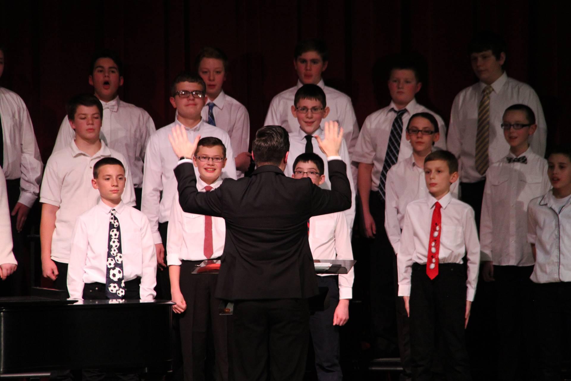 mister vanderslice conducting chorus