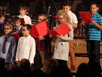 more fourth grade chorus students singing