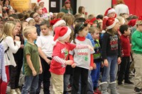 elementary students standing