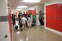 students taking part in cross fit challenge