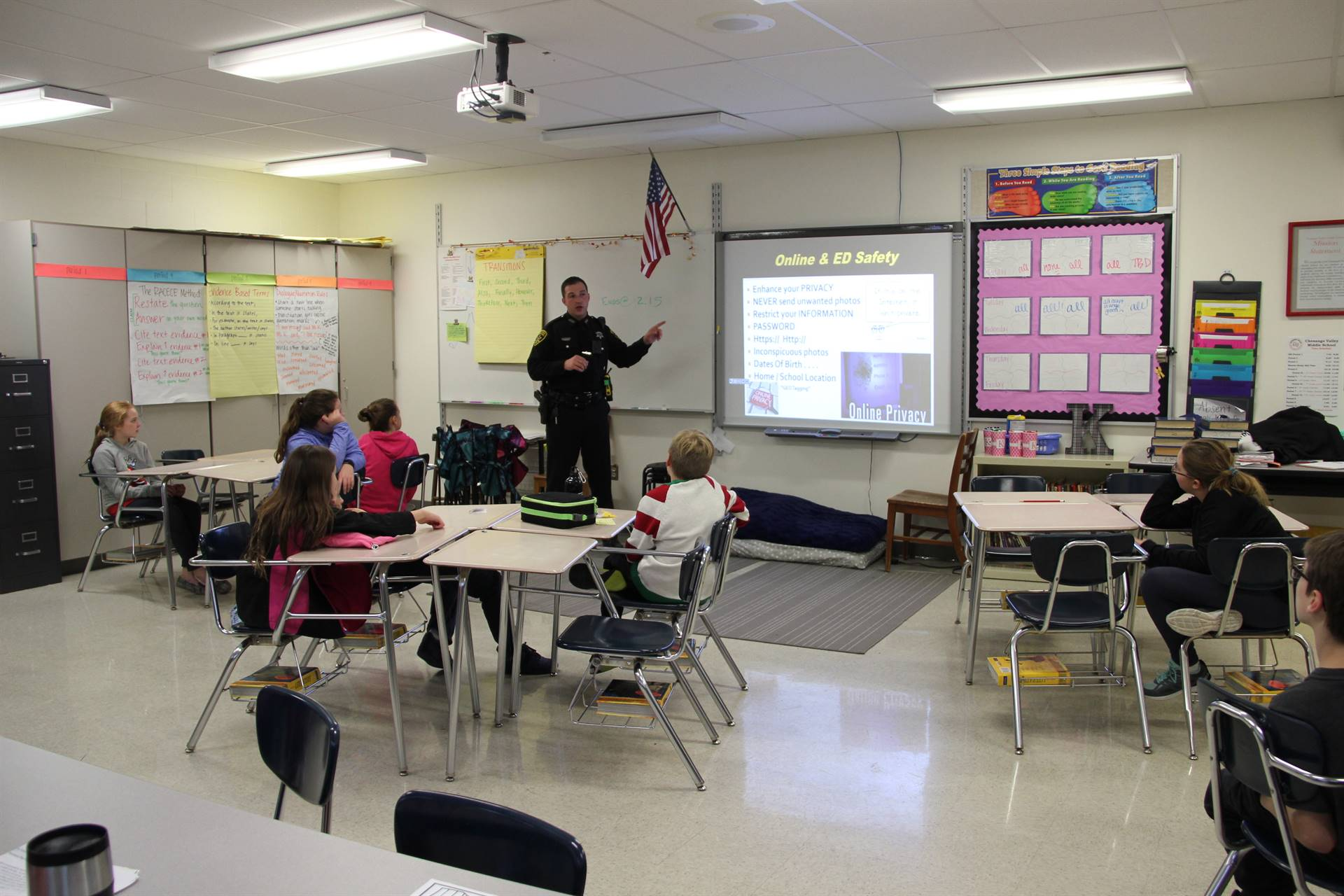 students learn about cyber bullying