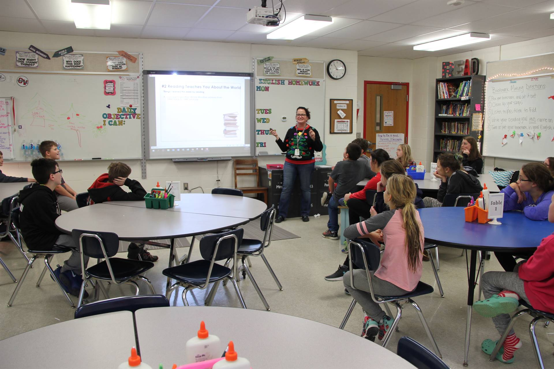 students learning about literacy