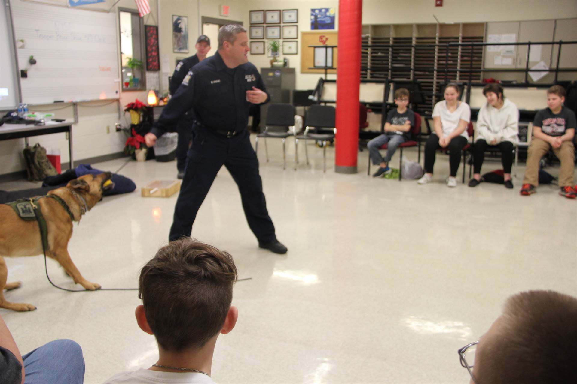 k 9 troopers show demonstration