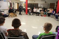 students watch k 9 trooper smell test