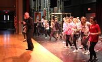 students salsa dancing