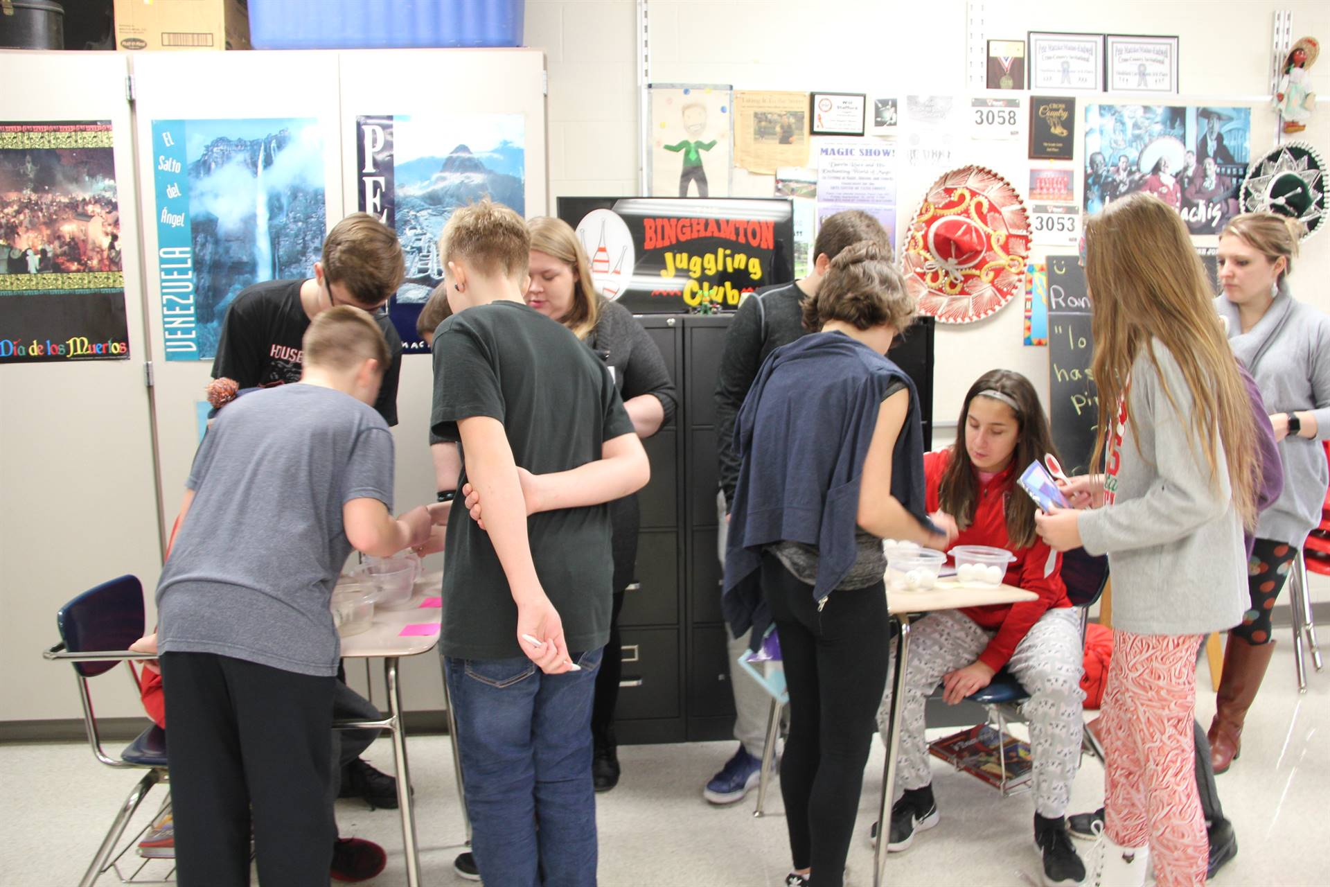 students taking part in activities