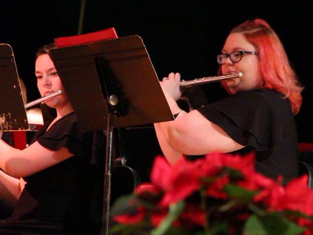 girls playing flutes