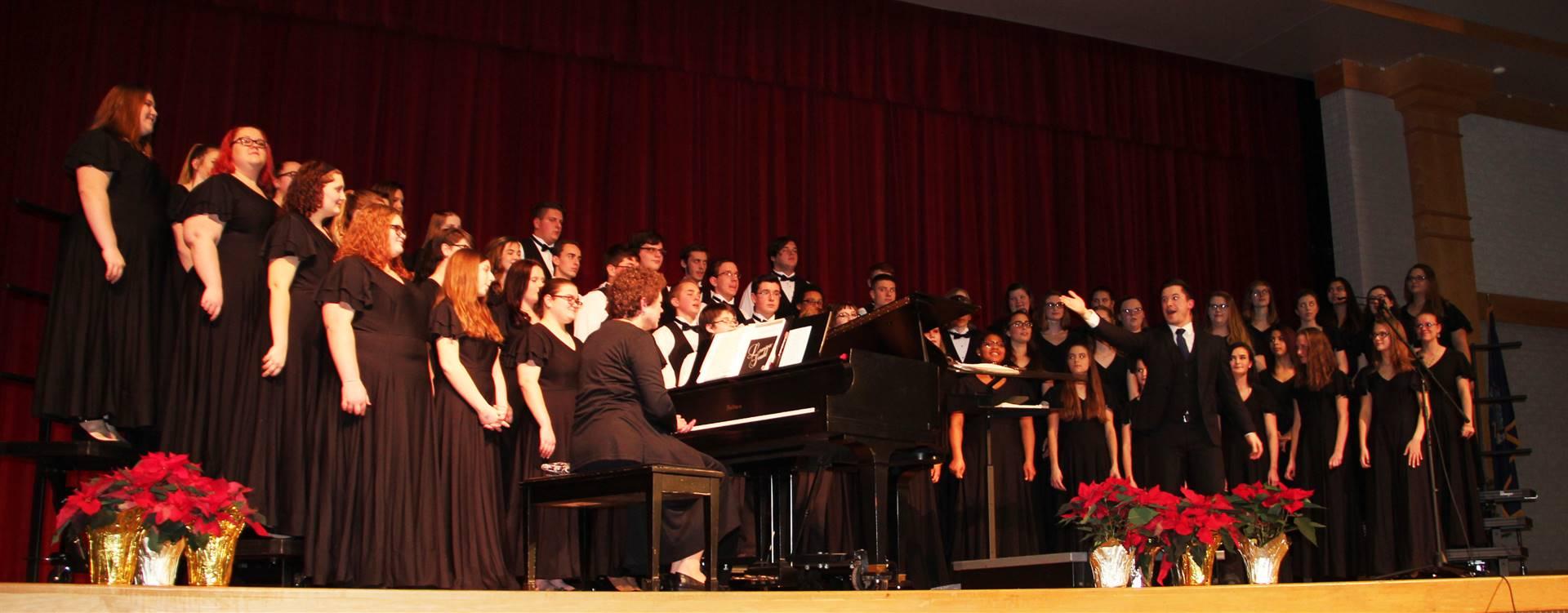 student chorus singing