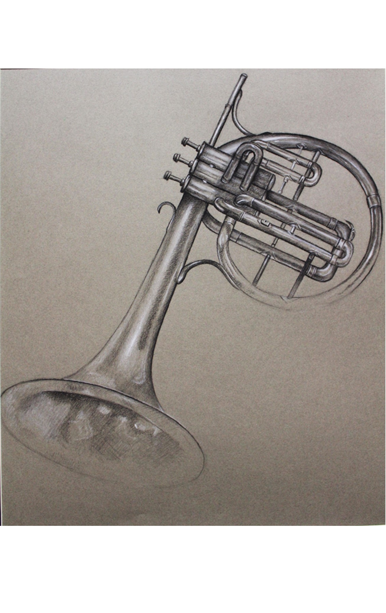 drawing of horn