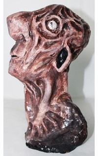 head made of clay