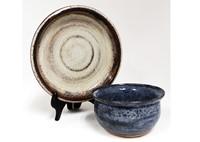 ceramic bowl and plate set