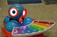 electronic device with xylophone