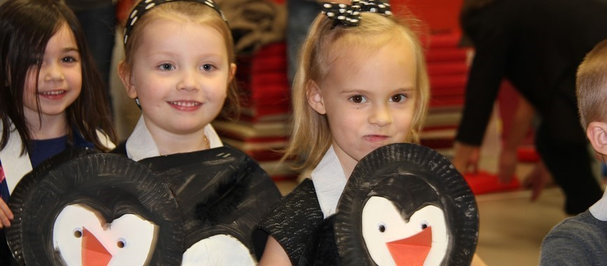 Penguins on Parade at Port Dickinson's annual PreK Penguin Hop