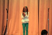 student performing for talent show
