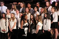 students singing on risers