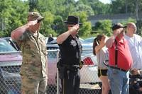U S Army Sergeant Matthew Tullis, Broome County Sheriff Deputy Robert Stapleton, and Vietnam War Vet