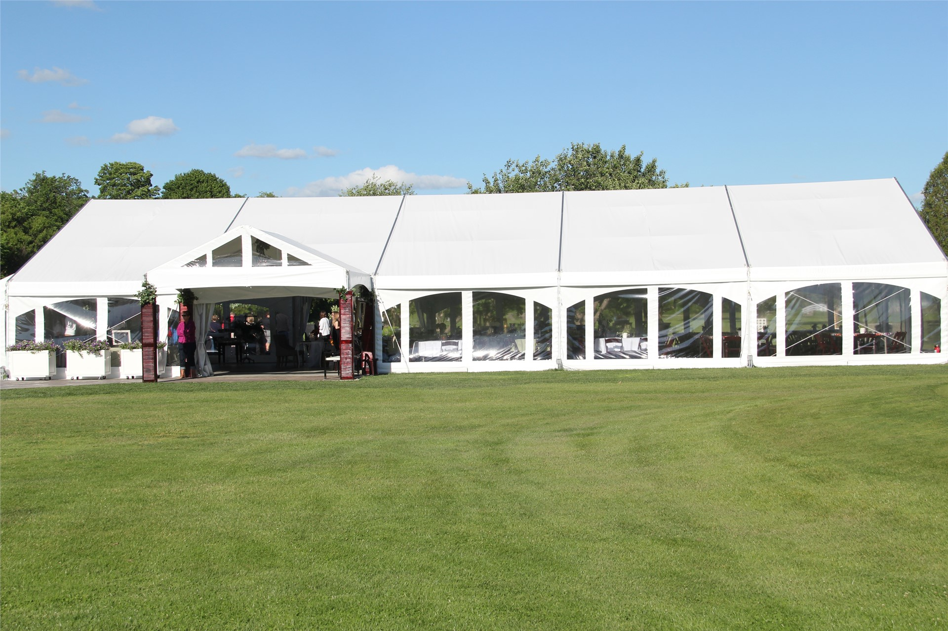 Banquet tent outside