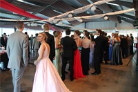 students socialize at prom event