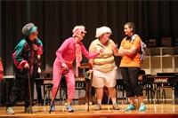 teachers dressed in costume on stage