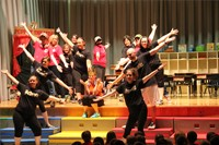 teachers on stage dance in talent show 3