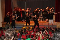 teachers dance on stage in talent show 6