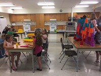 classroom shot of summer steam students k through 1