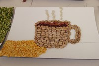 c v summer steam student projects using beans that looks like a coffee.