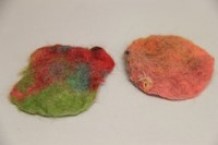 colorful felt created by c v summer steam students.