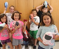 cv summer steam students with stuffed elephants they sewed themselves