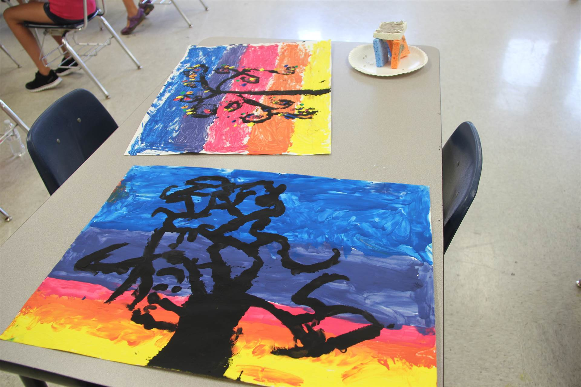 paintings made from nature in c v summer steam program