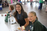 bradyn vincinivich and emily goodstahl smile during lunch break at boces steam